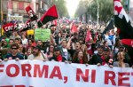 General strike in Barcelona, Spain - 29 Mar 2012